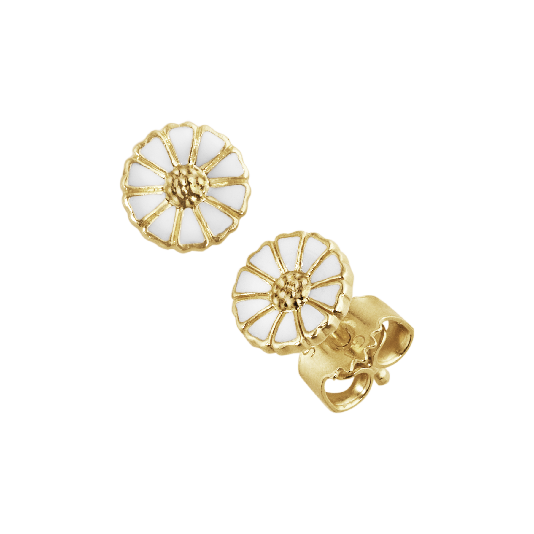 Daisy earrings gold plated
