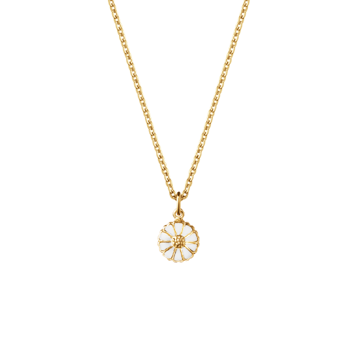 Daisy pendant gold plated 7 mm