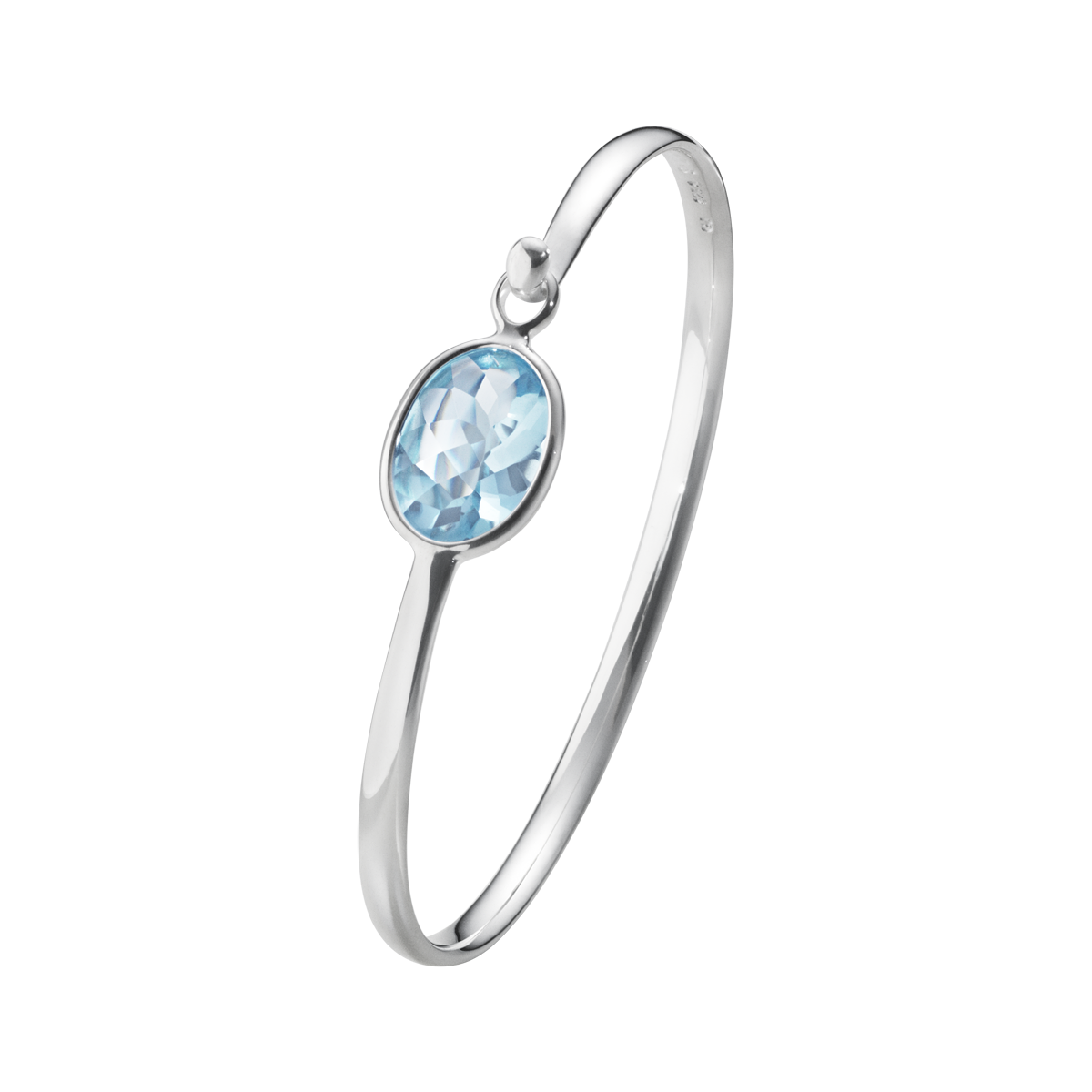 Savannah Bangle blue topaz M
