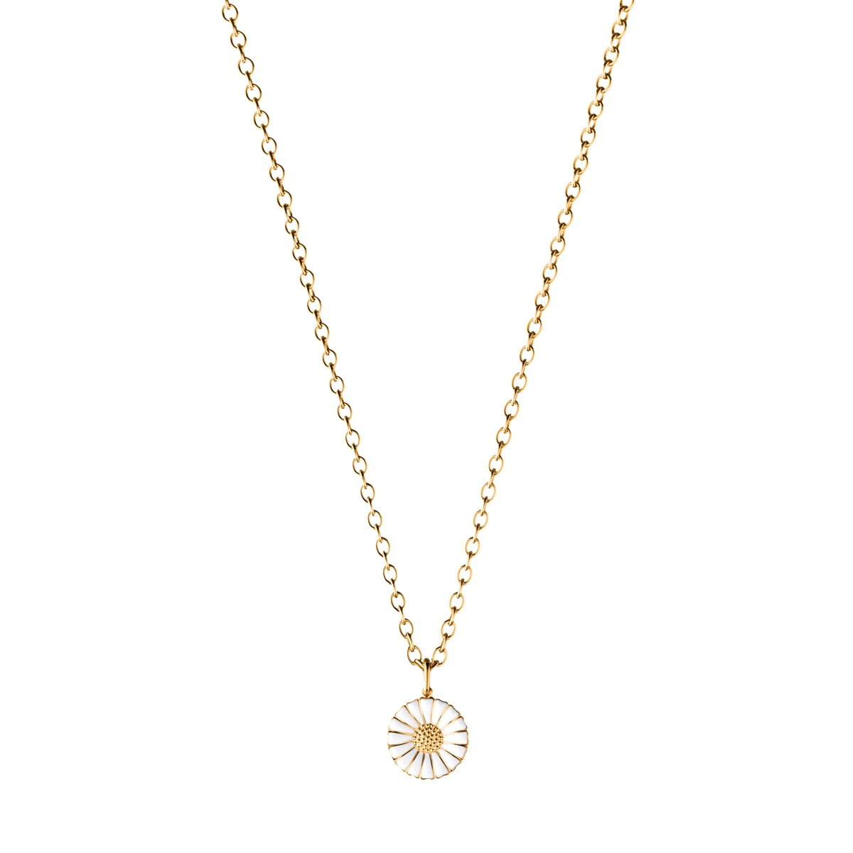 Daisy pendant gold plated small