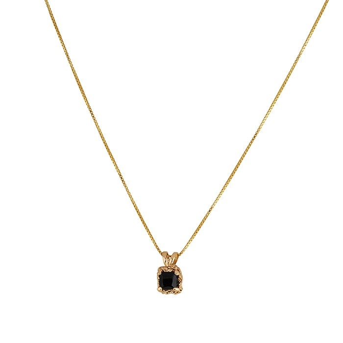 square_spinel_necklace_bronze