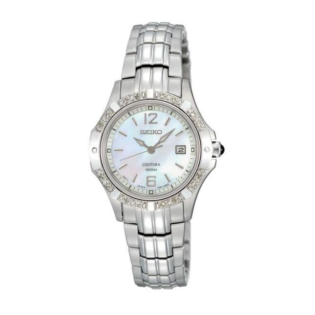 Damklocka Coutura silver pearl diamonds
